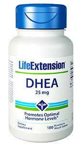 DHEA, 25 mg, 100 dissolve in mouth tablets